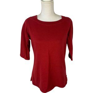 Dickies Girls 3/4 Sleeved Red Sweater Size L(12/14)